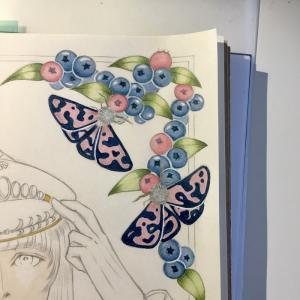 色鉛筆mix111 下描き 続きその1