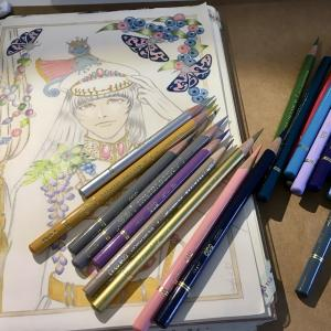 色鉛筆mix111 下描き 続きその3
