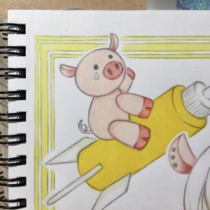 色鉛筆mix112 色塗り中(*´ω`*)2