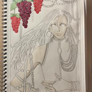 色鉛筆mix123 下描きの続き-おまけ付き-