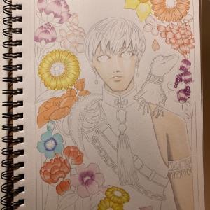 色鉛筆mix125 下描き続き
