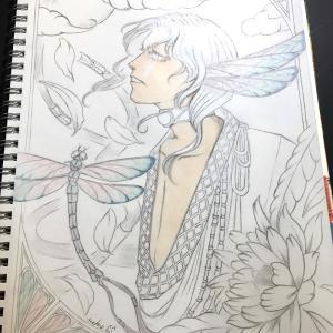 色鉛筆mix92 下描き-その2-