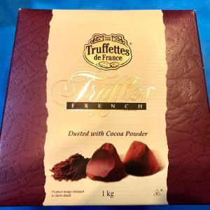 コストコのトリュフチョコ フランス産 1kg  なんと838円 甘さとビターさのバランスが良い