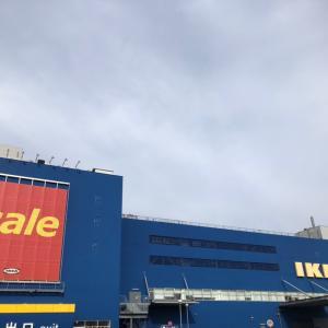 IKEA神戸再訪 棚VESKEN  箱DRONA 綿シーツDVALA プラントヌードルカレーの味