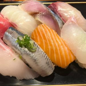 肥後橋 鶴すし 寿司8貫と茶碗蒸しと赤だしランチ1000円 平日・数量限定