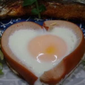 33回目:素人の男料理:ハートエッグと秋刀魚の串焼き&手作り焼き鉄串だァ~