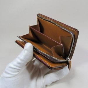 L字ファスナー小銭入れが付いた折財布仕上がりました。