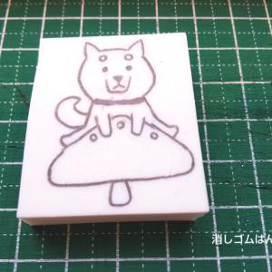 柴犬 × きのこ★ムズカシイ黒柴