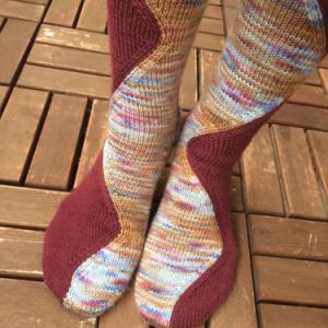 FO: Stitch Surfer Socks くつ下完成