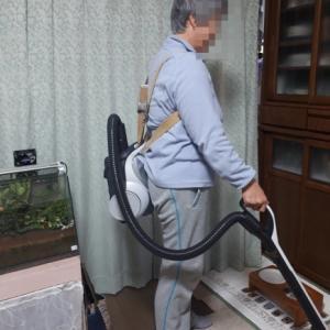掃除機の背負い方