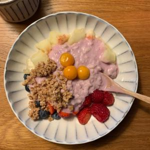 最近食べてる朝ごはん