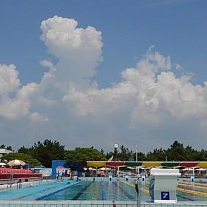灼熱の太陽 水泳競技大会