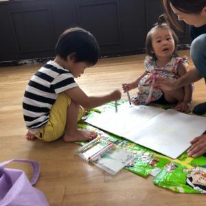 お絵かきリトミック大好き☆子どもの興味を引き出し、上達に感動!仙台 1歳2歳親子 音楽知育教室♪