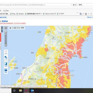 台風19号 仙台にもすごい豪雨と暴風でした!みなさん、無事でしょうか?警戒レベルマップも真っ赤!
