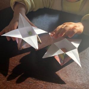 作ってみたよ☆節分の「つの箱」折り紙工作☆リトピュアtube公開中!泉区住吉台リトミック教室♪