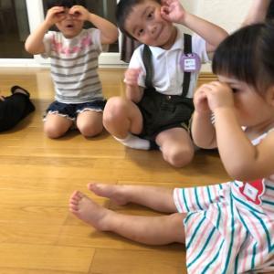 7月レッスンも元気に盛り上がってスタート☆仕掛けがいっぱいよ☆多賀城 親子リトミック♪