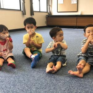 夏休みリトミック、お兄ちゃん達も楽しみに来てくれました☆泉区 親子習い事 高森教室♪