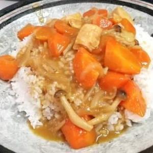 先日、大豆の煮汁でカレーライスを作りました😄♪