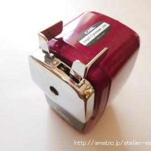 鉛筆削り機 カール事務器 *CARL A5PR-R エンゼル5 プレミアム レッド*