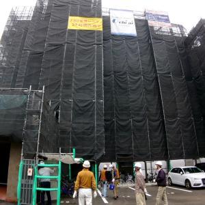 大規模修繕工事、足場解体前検査