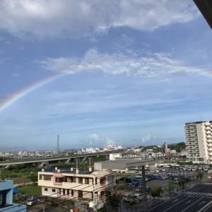 沖縄、晴天、きれいな虹!
