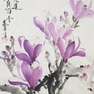 春の色 木蓮を描く