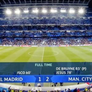 CL決勝トーナメント1stレグ、シティが2-1でレアルに劇的な逆転勝利!@サンチャゴ・ベルナベウ!
