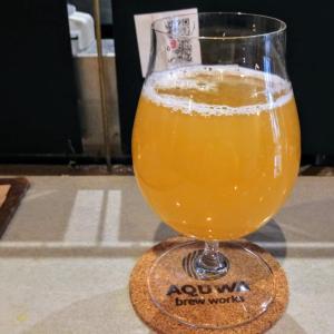 土曜午後飲みは、ほぼオープンラストでクラフトビール飲み比べ!@南浦和駅東口の「アクワブリューワークス」!