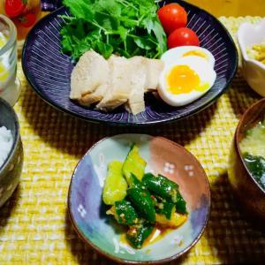 鶏むね肉のポン酢煮定食