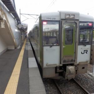 釜石線・荒谷前駅~綾織駅の車窓風景