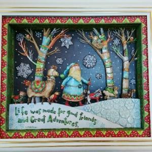 カラフルで楽しいクリスマス作品♪