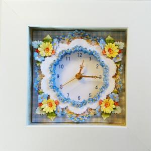 お花の時計♪