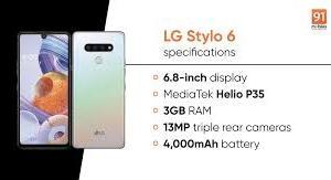 LG Stylo 6スマートフォンの紹介Webサイト 20.06.22
