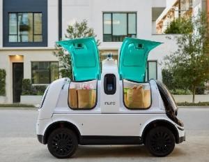 7種類の、配達ロボットを提供している、メーカ同士が、商品を、顧客の家のドアまで、配達する、競争をしている。(1) '20.10.14