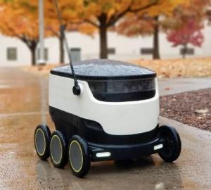 7種類の、配達ロボットを提供している、メーカ同士が、商品を、顧客の家のドアまで、配達する、競争をしている。(2)'20.10.15