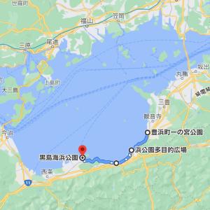 島巡り車中泊の旅は、初夏の香りがする香川県から愛媛県に入ります