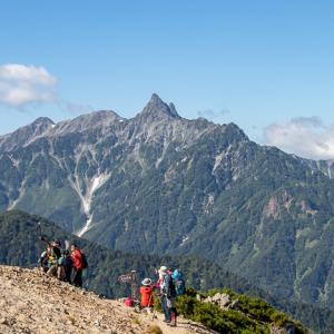 夏の終わりの縦走路 燕岳から大天井岳