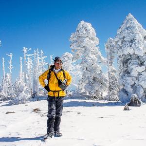 聖なる爪痕を行く 雪の弥山