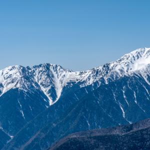 残雪はじめました 南アルプス・辻山