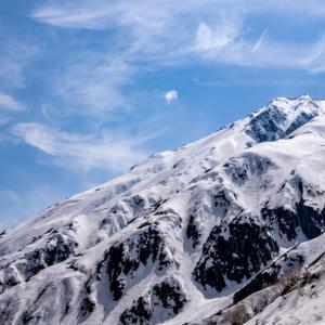 残雪日帰り北アルプス 鏡平