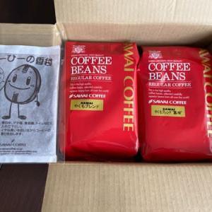 コーヒー豆が来て ミルで初挽き