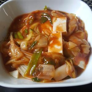 冷やし麻婆豆腐。