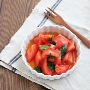 トマトのシソポン和え