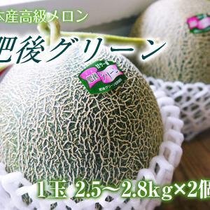 熊本産高級マスクメロン『肥後グリーン』令和3年は7月20日(火)が最終出荷!数量限定!早い者勝ちです!