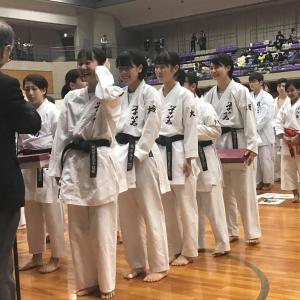 女子団体組手・女子個人組手・男子団体形で優勝 29th近畿中学校選手権