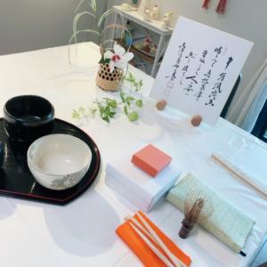 夏の終わりのテーブル茶道