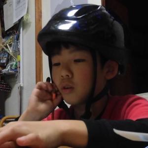 お部屋でヘルメット~☆