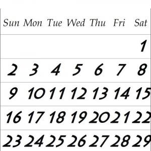 『8月営業日カレンダー』