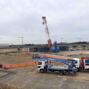 日野橋は工事中