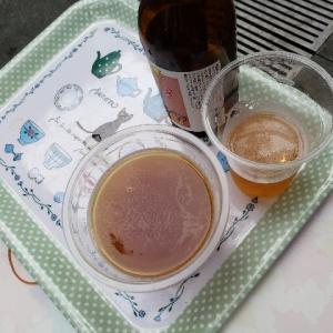 けやき広場でビール三昧(笑)